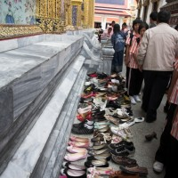 Shoes at the Grand Palace in Bangkok
